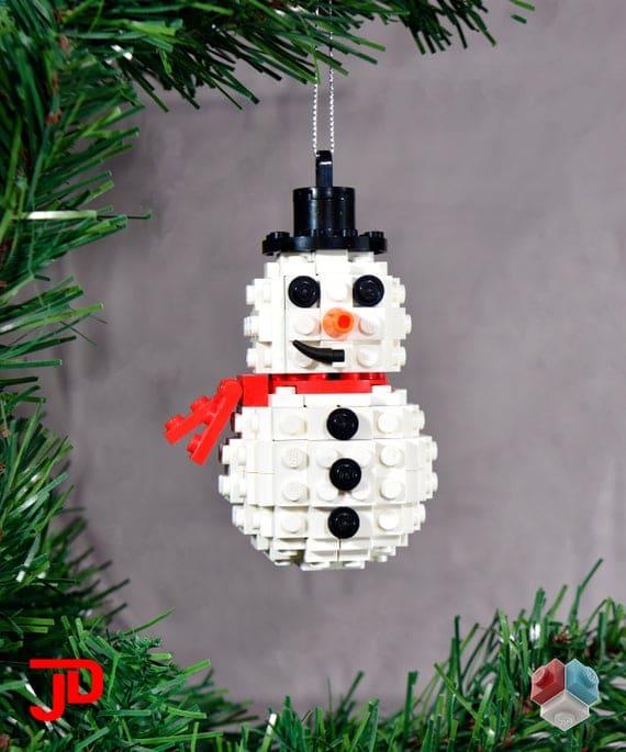 Snowman Christmas Ornament kit 100% authentic new LEGO� | Etsy