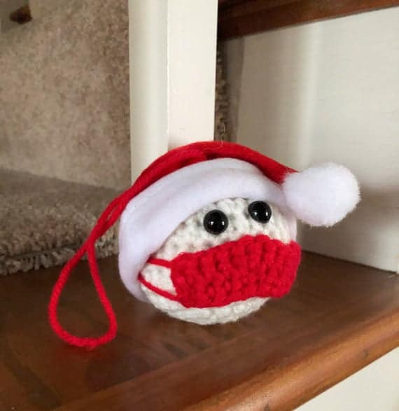 Tree Ornament Masked Snowman Ornament Santa Hat Snowman | Etsy