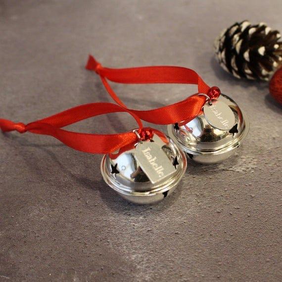 Believe Jingle Bell Personalised Christmas Tree Ornament | Etsy