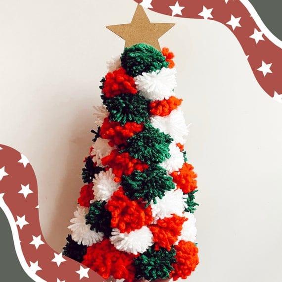 Pom Pom Tree Holiday Decor Christmas Decor Christmas | Etsy