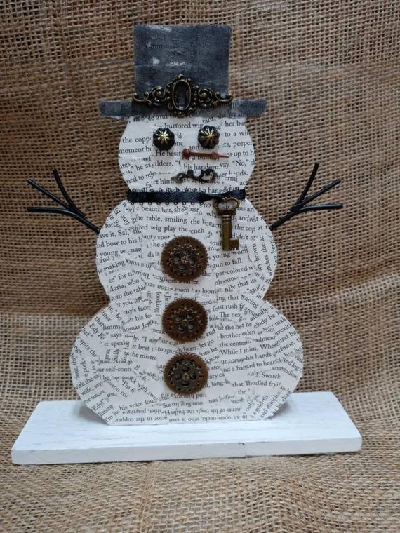 Steampunk Snowman | Etsy