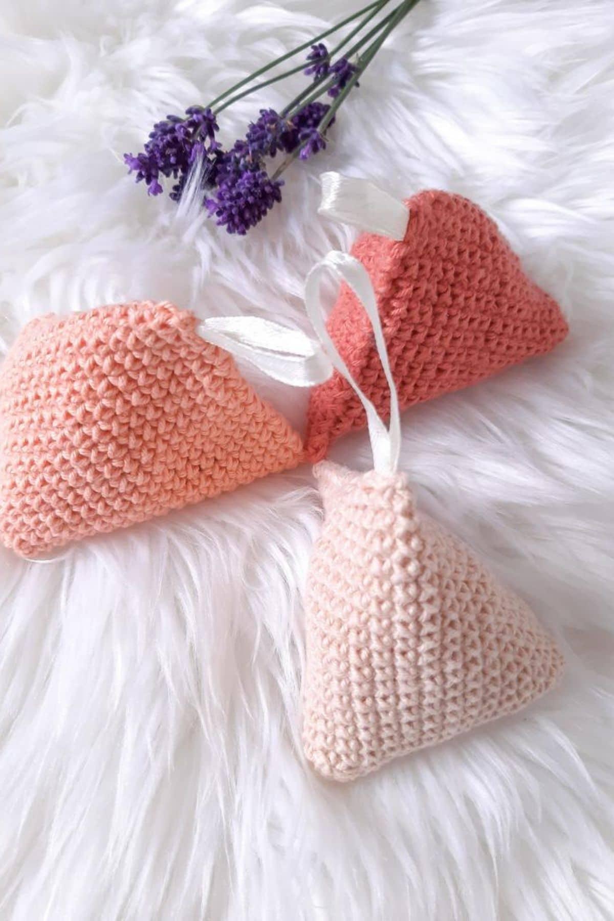 Crochet sachets