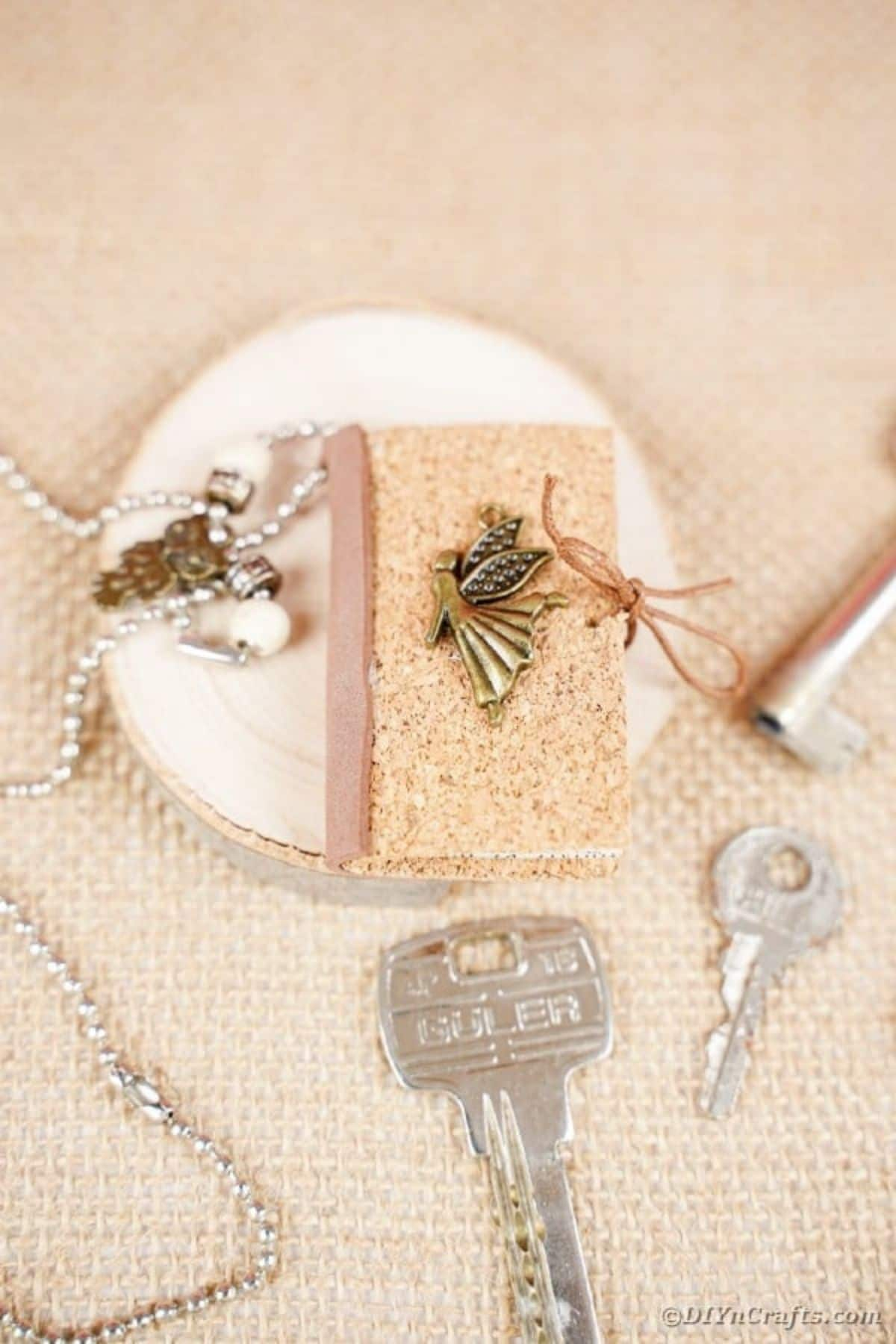 Miniature book keychain
