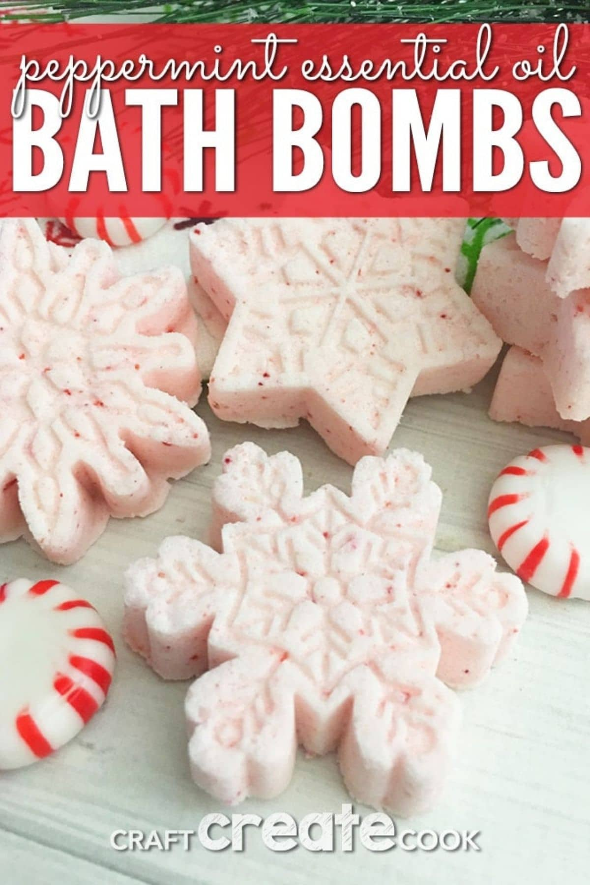 Snowflake shaped bath bombs