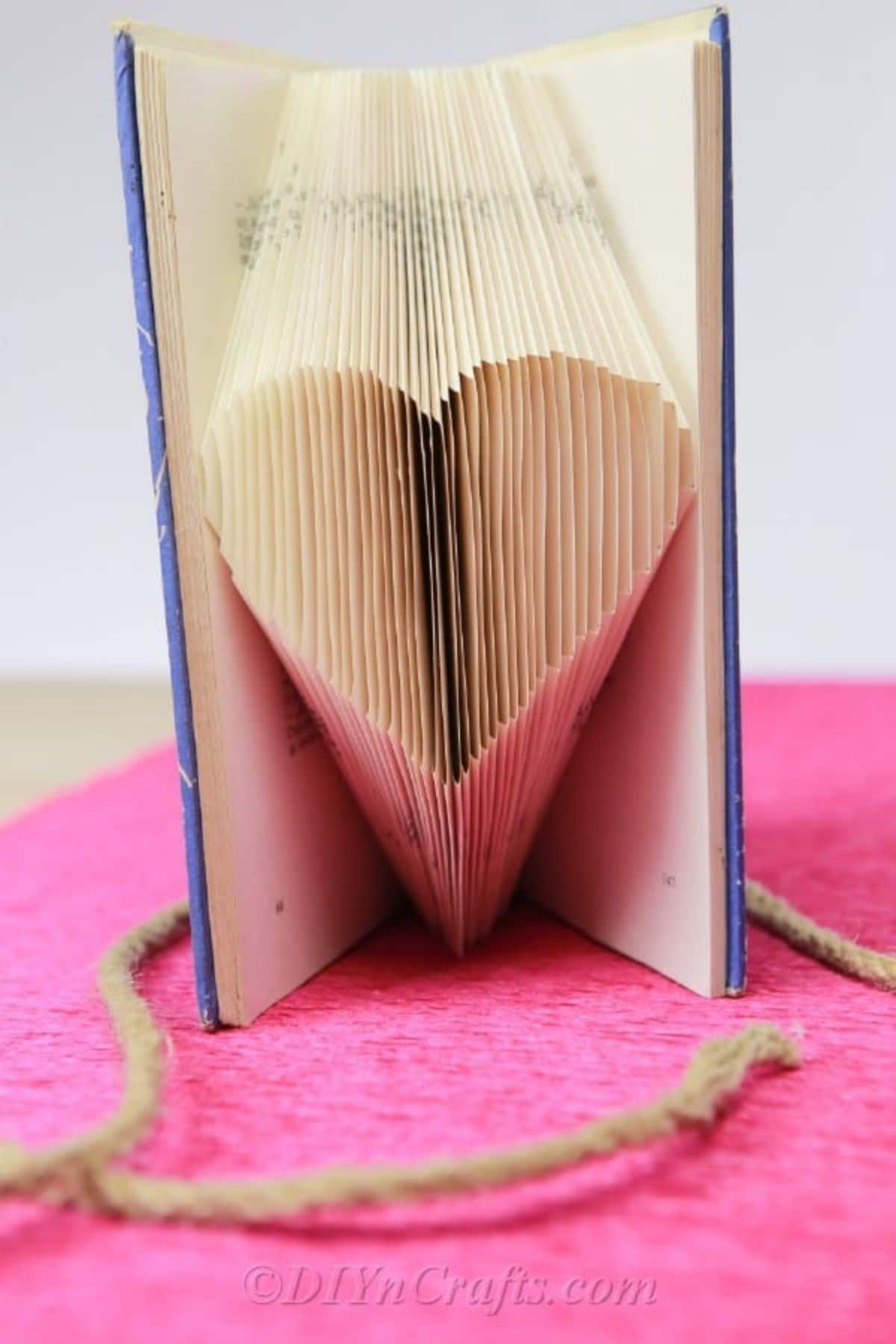 Heart shaped folded book