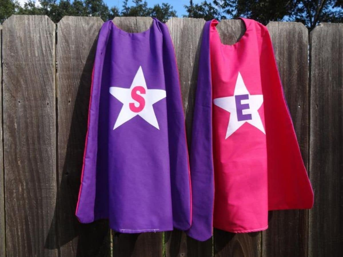 Capes on fence