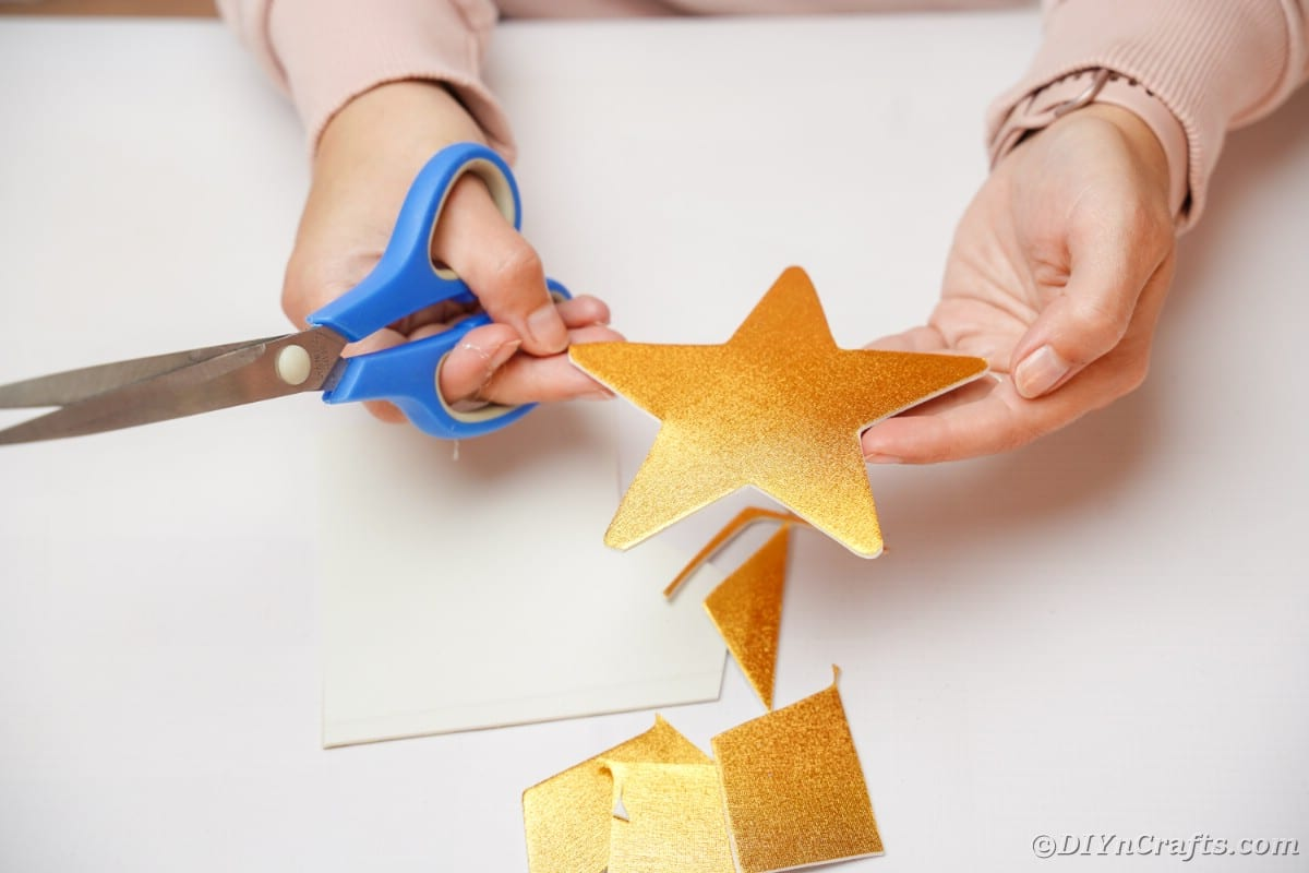 Woman holding a gold star