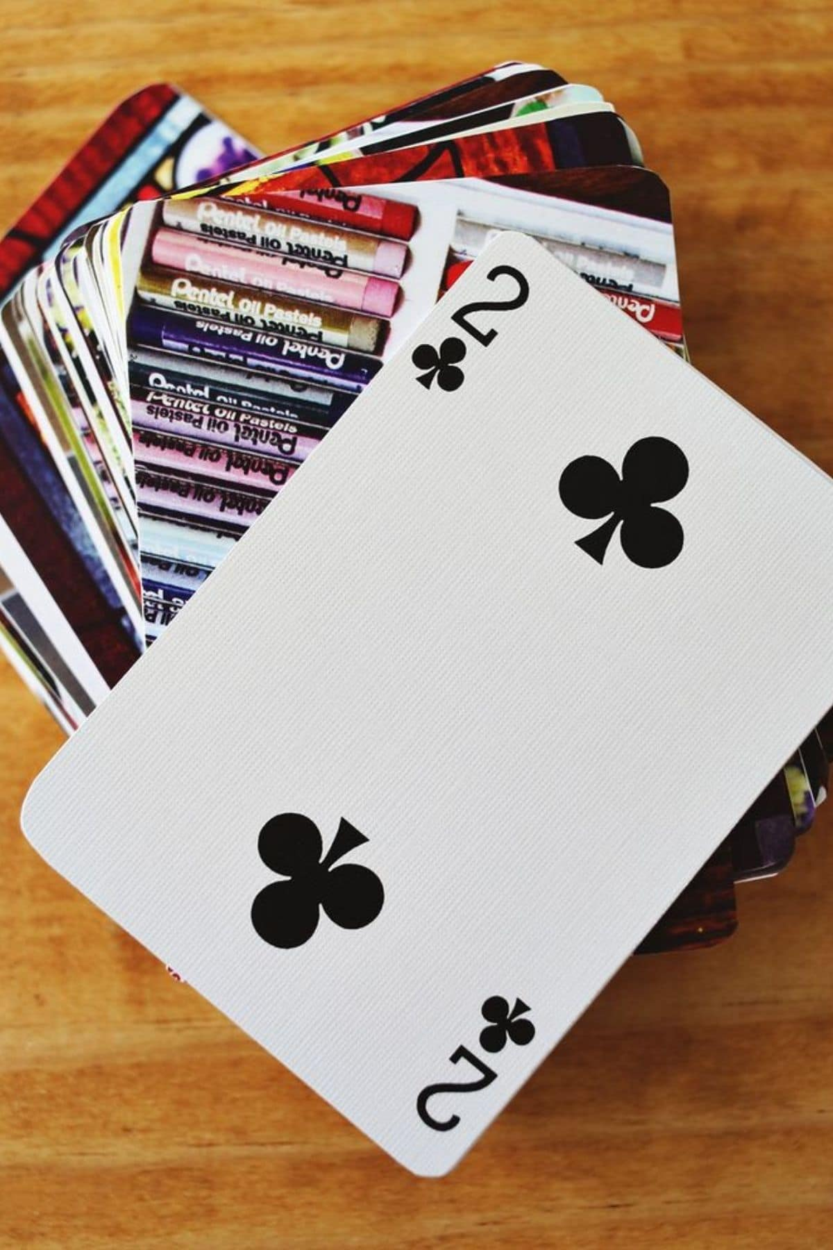 Playing card stack