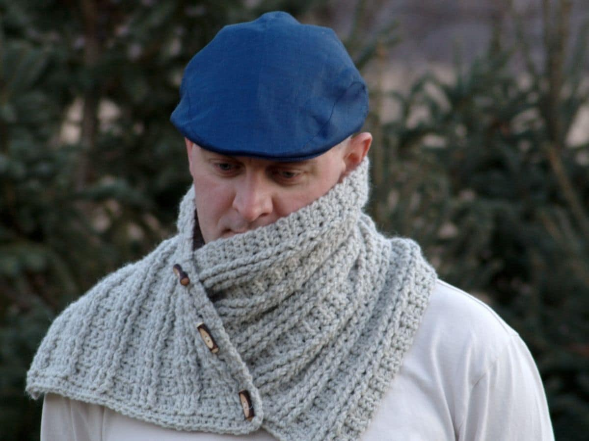 Man wearing cowl
