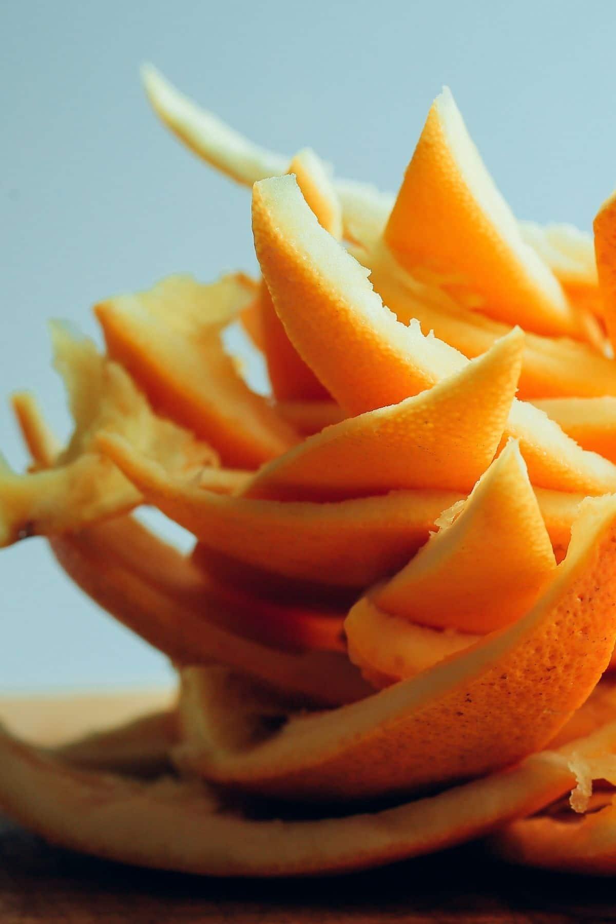 Stack of orange peels