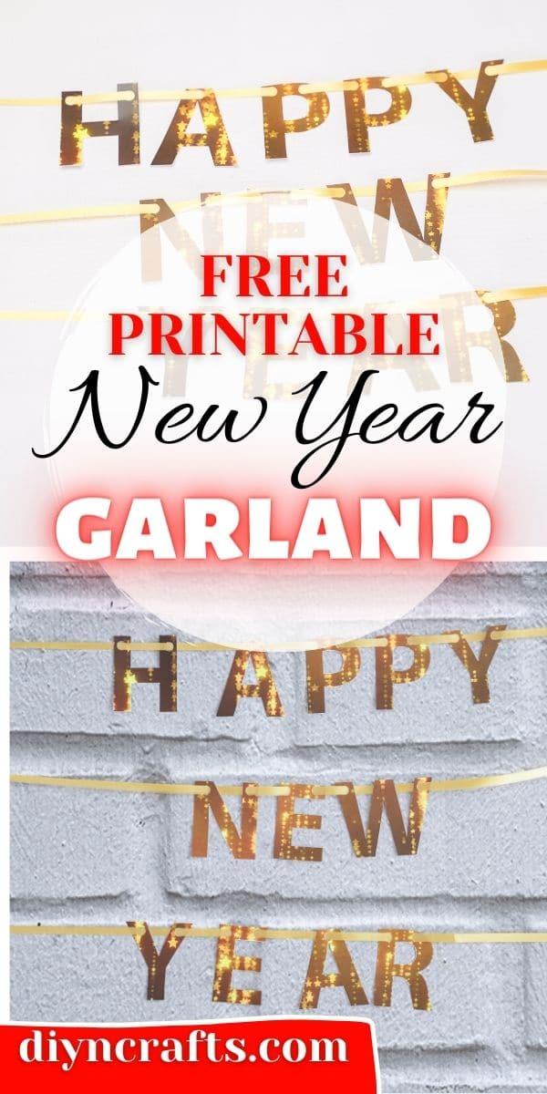 Printable new year banner collge