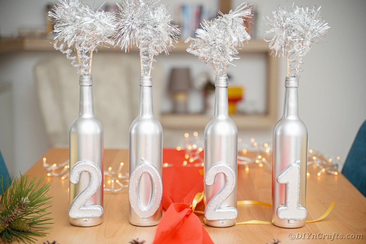 New Year's decor on table