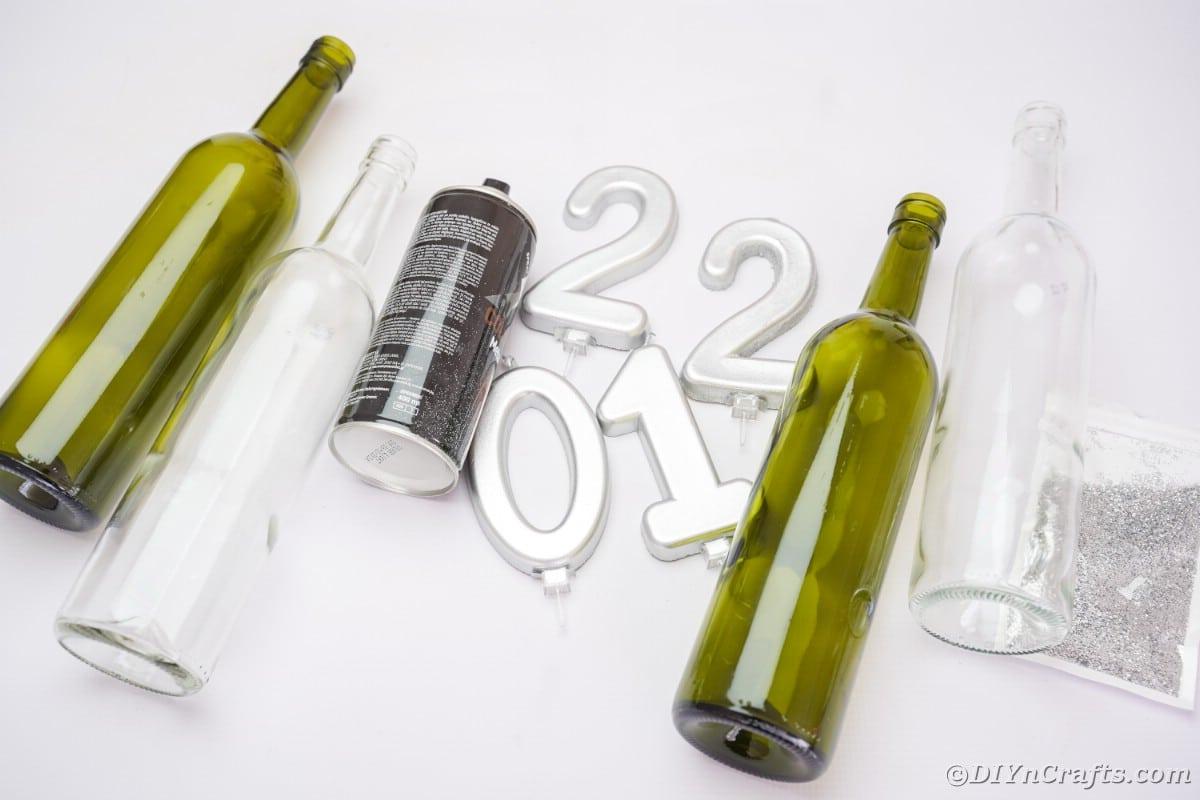 Forniture per la decorazione della bottiglia di vino di Capodanno