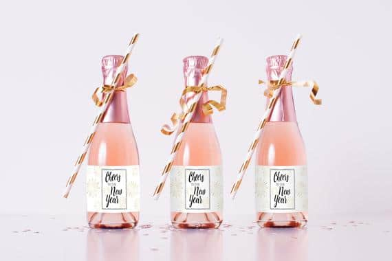 New Year Mini Champagne Template Cheers to the New Year Mini   Etsy