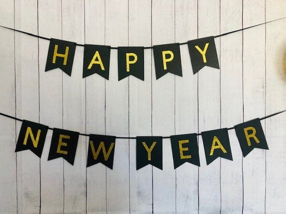New Years Banner New Years Eve Party Decor New Years Eve | Etsy