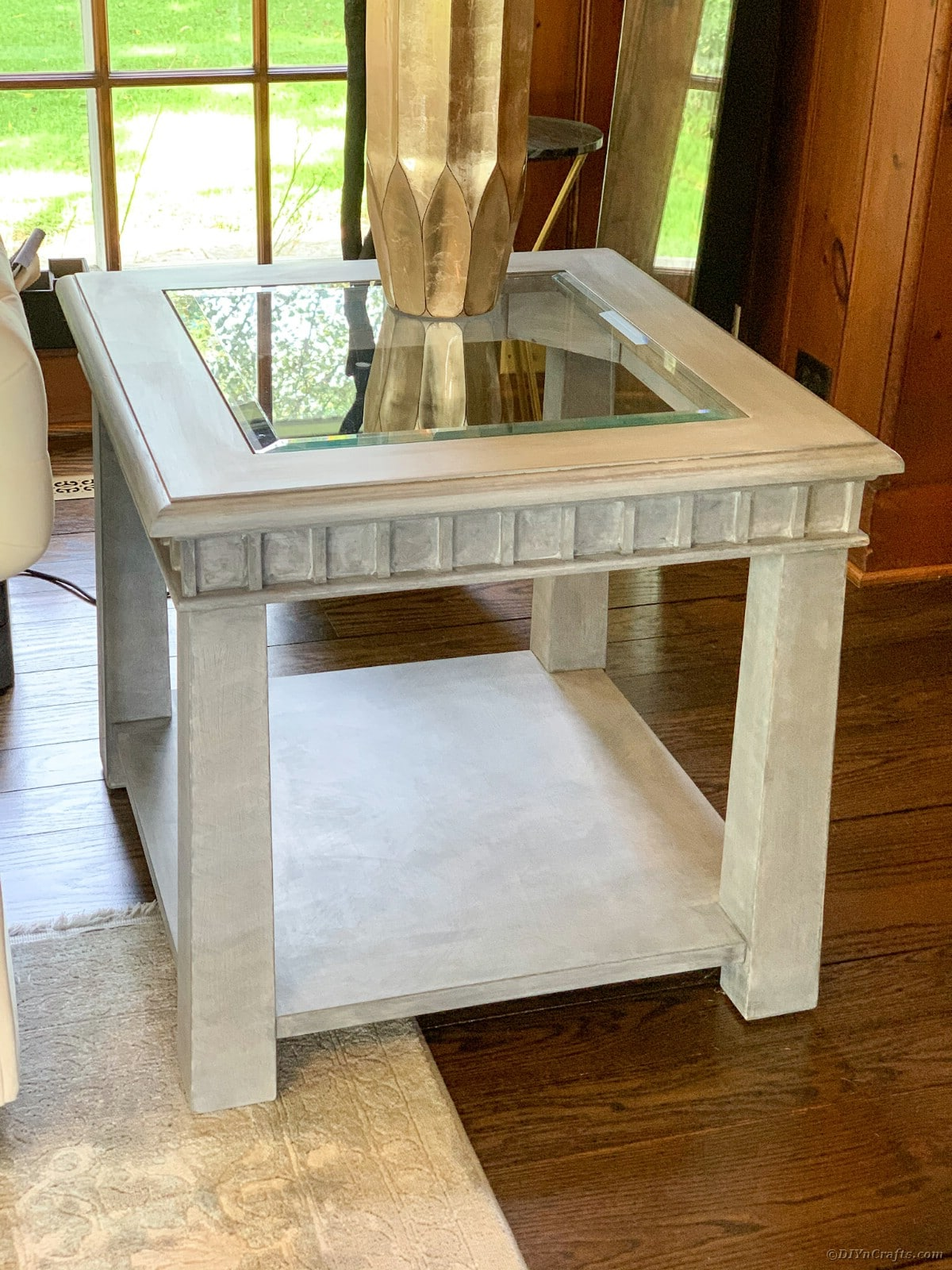 Finished glass top table restoration