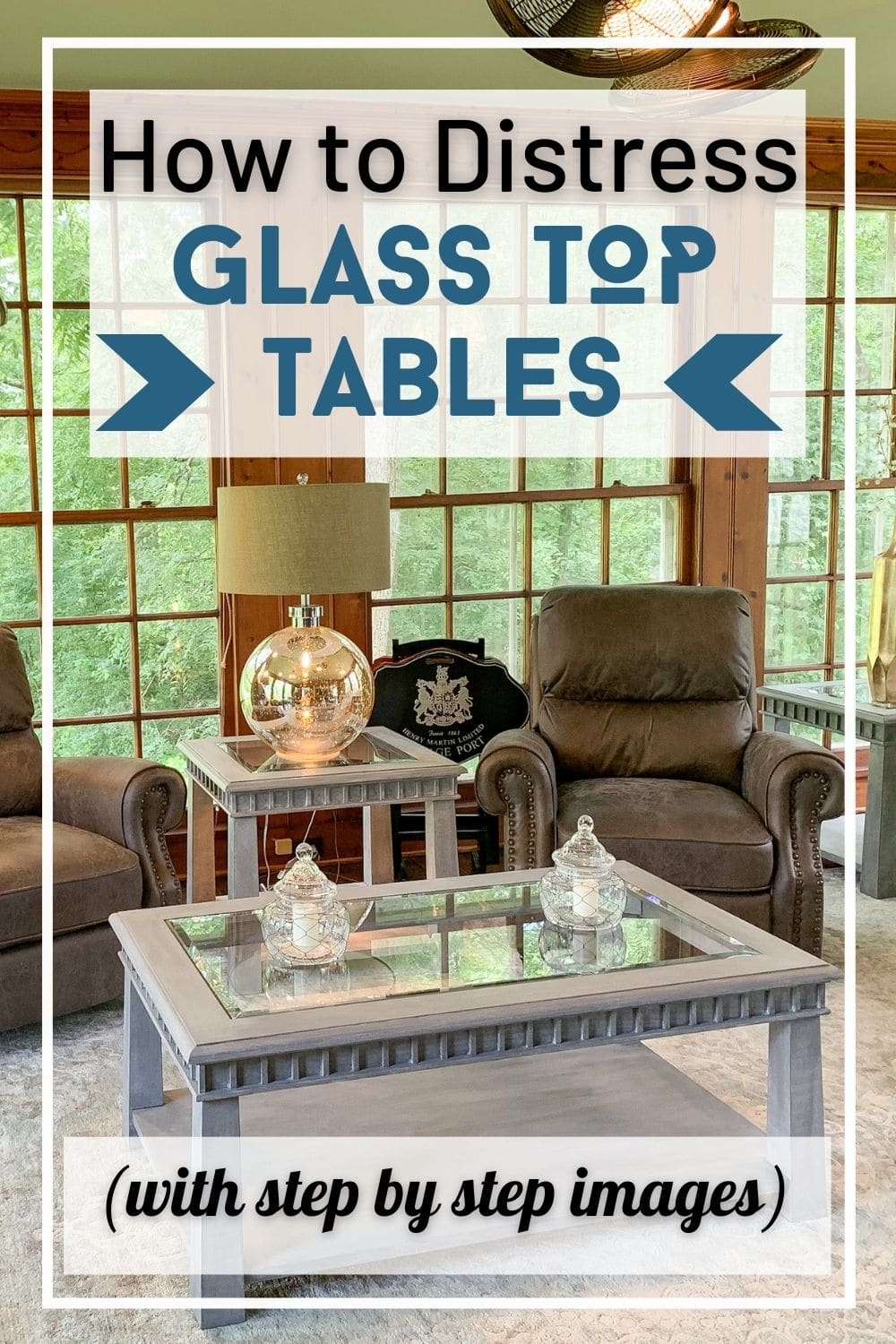 Glass top table in living room