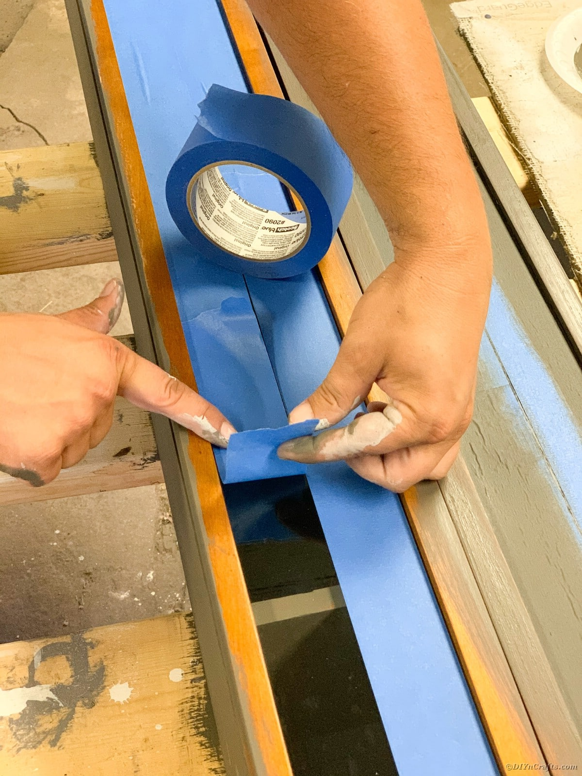 Adding paint strip to cabinet