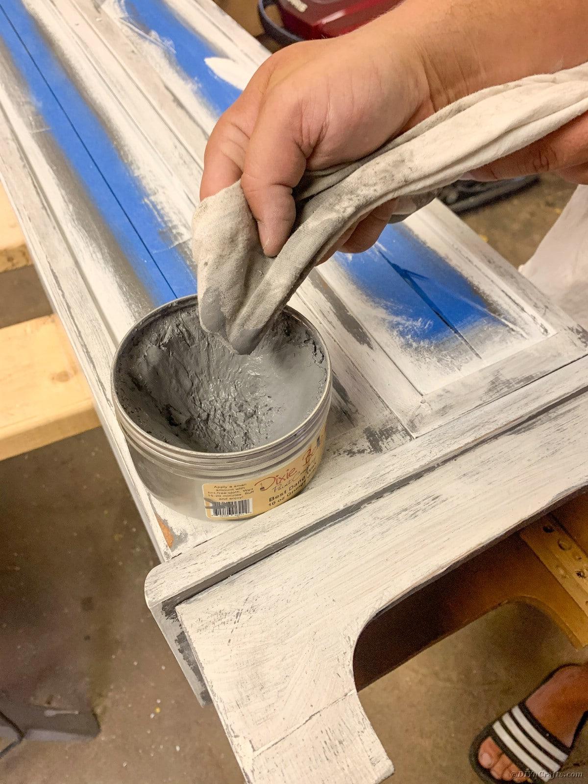 Waxing curio cabinet