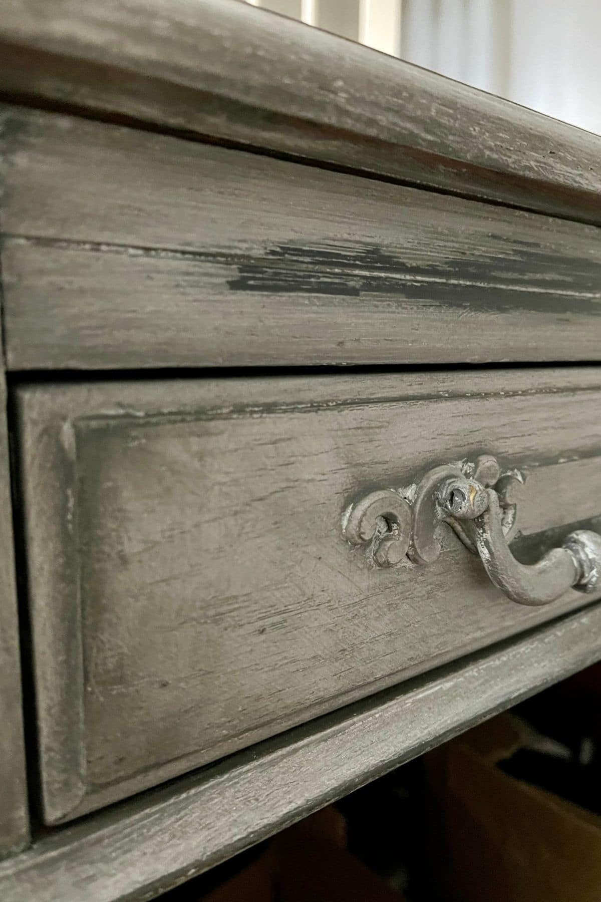 Distressed desk drawer