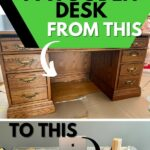 Distressed desk collage