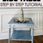 Metallic finish side table