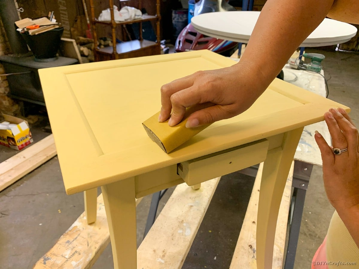 Sanding side table