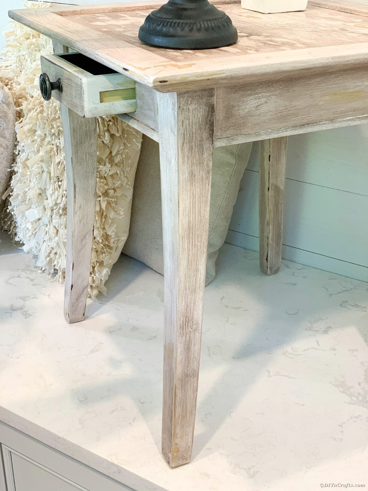 Side of end table