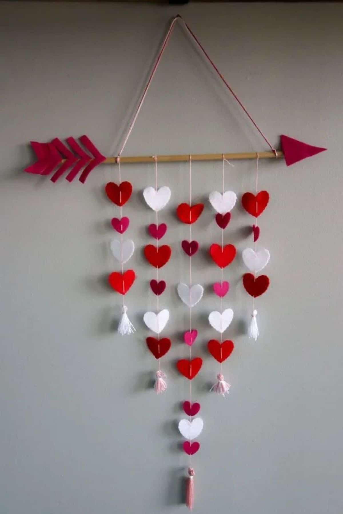 Hanging heart decor