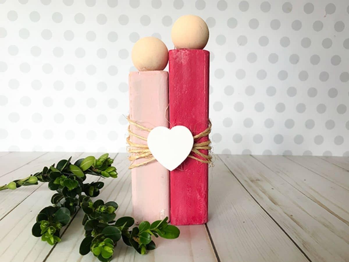 Wooden valentine decor