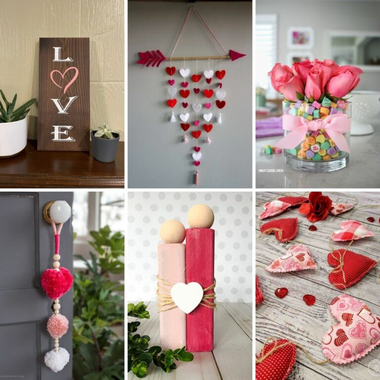 Valentines decorations collage