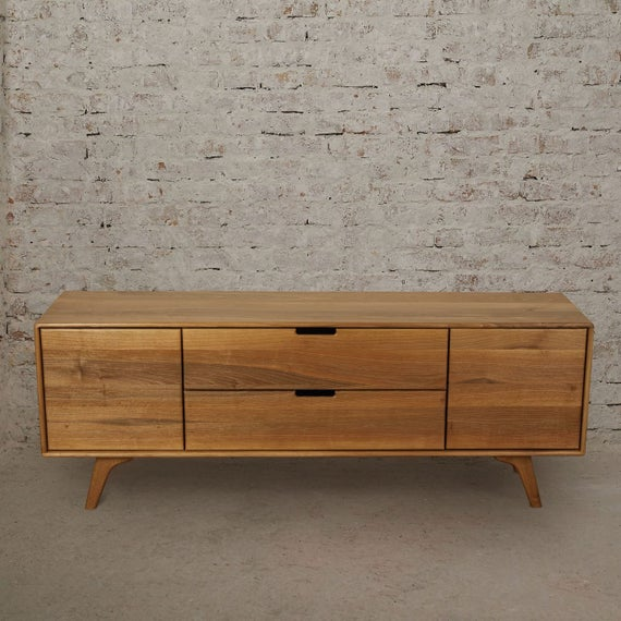 Mid Century Modern Credenza Media Console TV Stand   Etsy