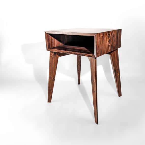 Mid Century Modern Nightstand Modern Side Table Danish   Etsy