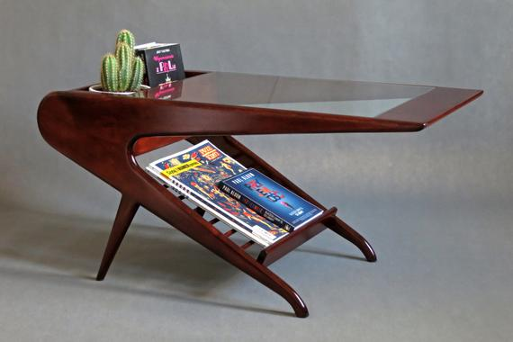Mid Century Coffee Table in the Style of Ico Parisi Italian   Etsy