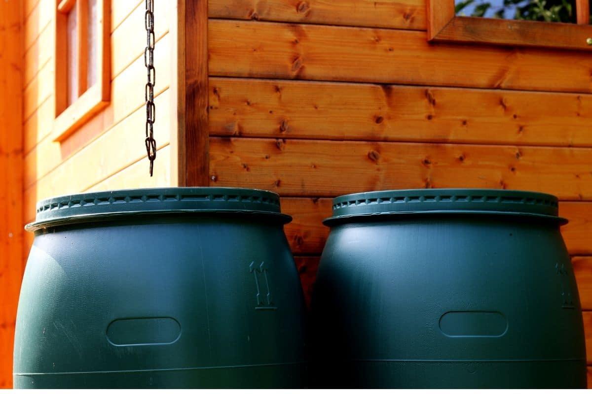 2 black barrels