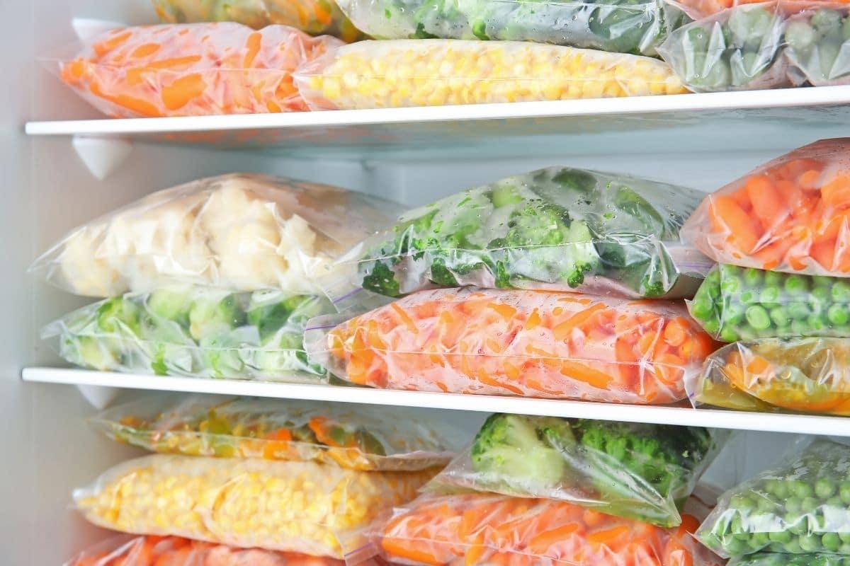 frozen sliced vegetables