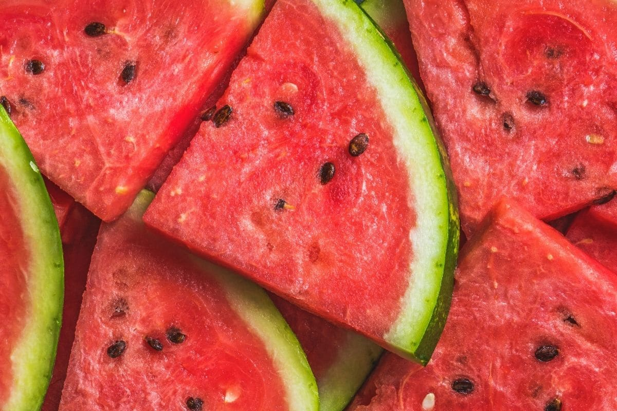 delicious watermelon with seeds