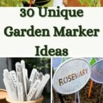 unique garden markers