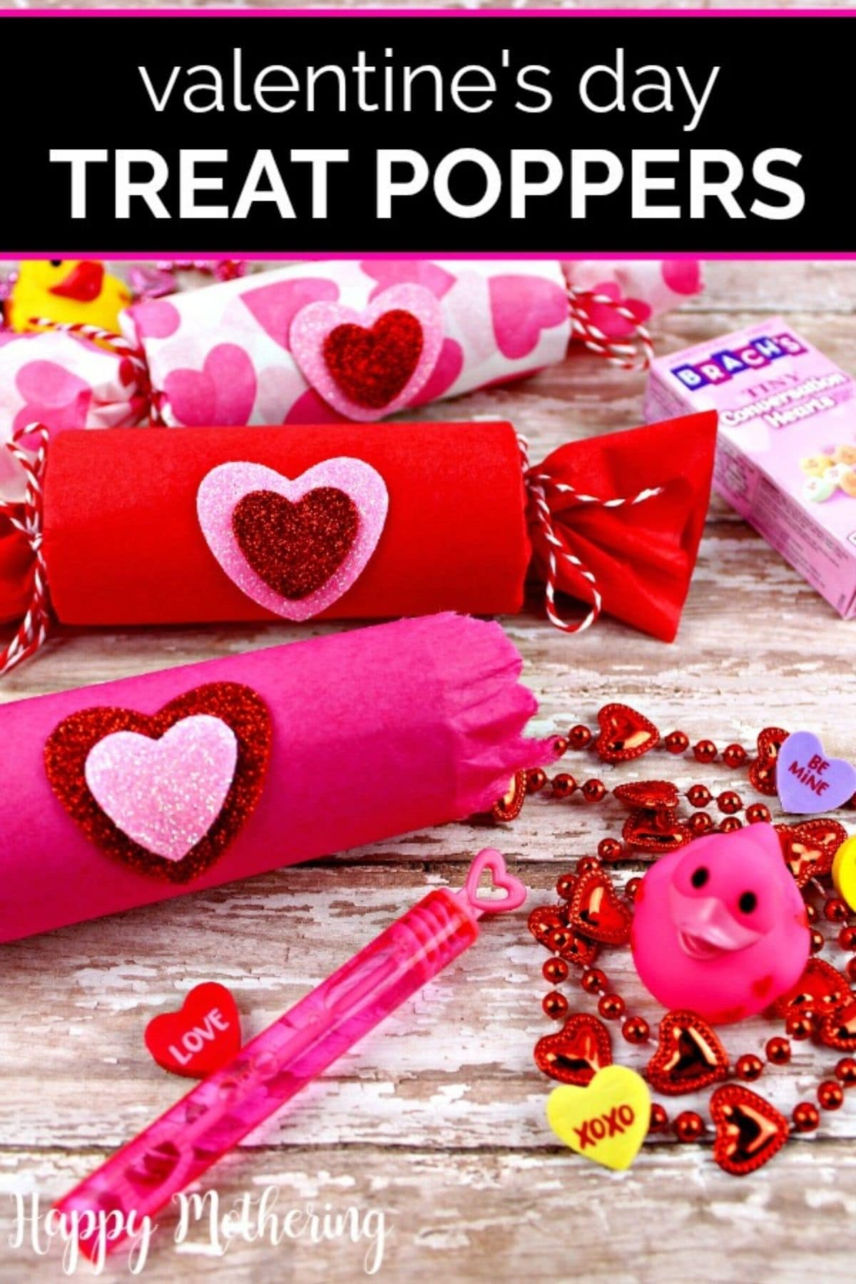 Valentine party poppers