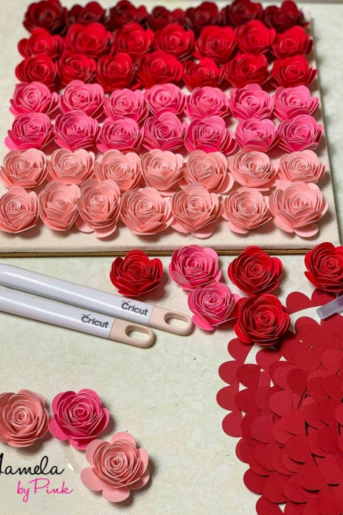 Ombre papír virágok
