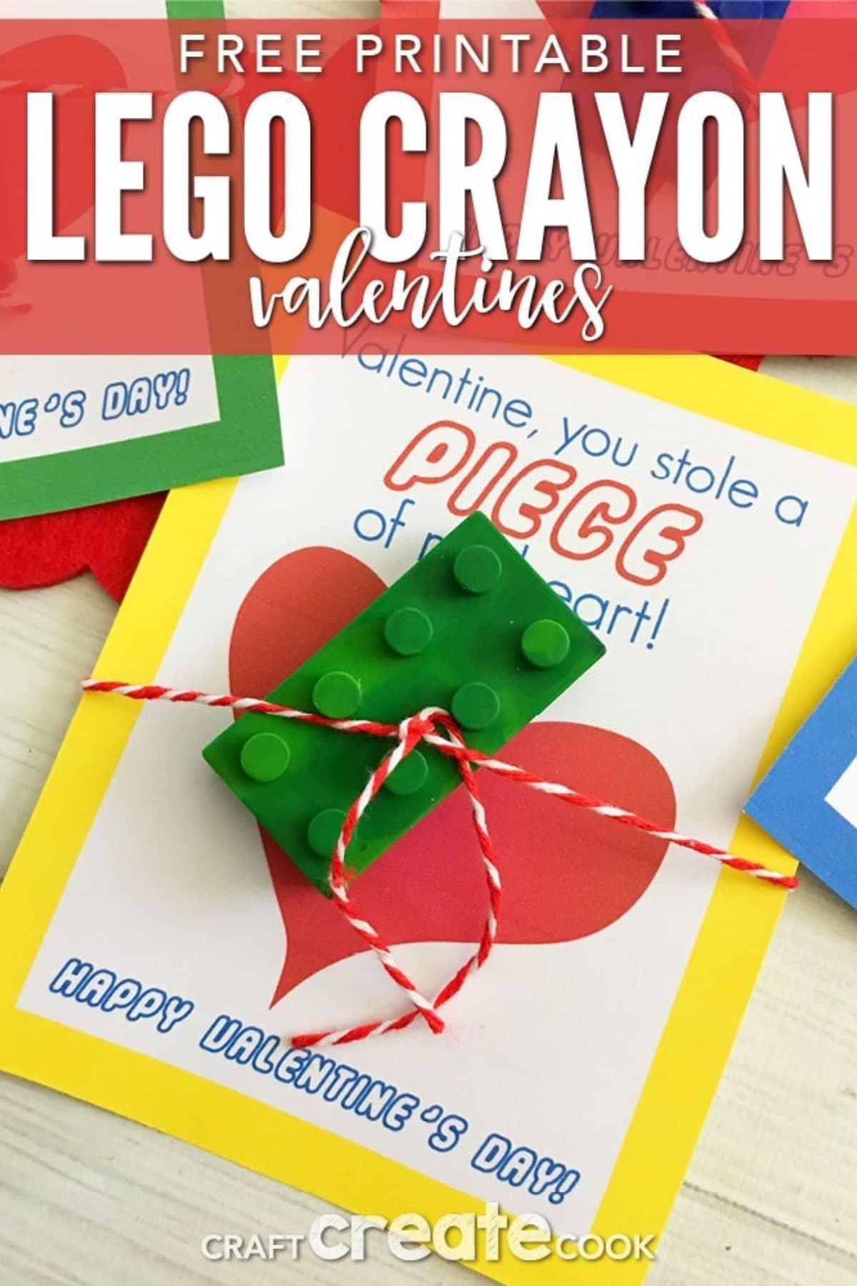 Crayon LEGO valentine
