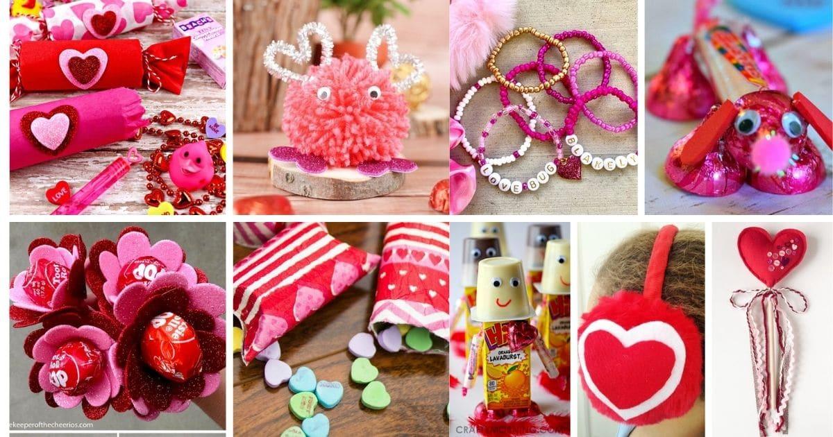 Valentin gyerekek ajándék kollázs