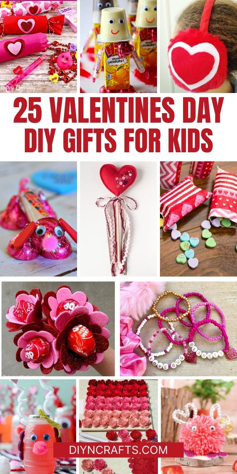 Valentines kids gifts collage
