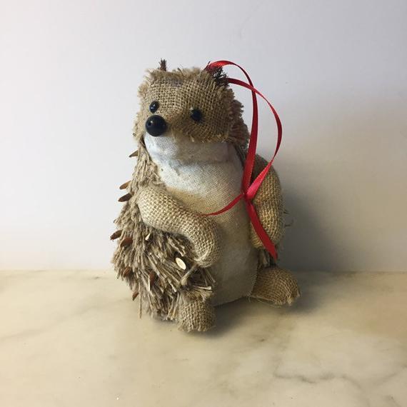 Large Woodland Hedgehog Made of Burlap And Wood Hedgehog | Etsy