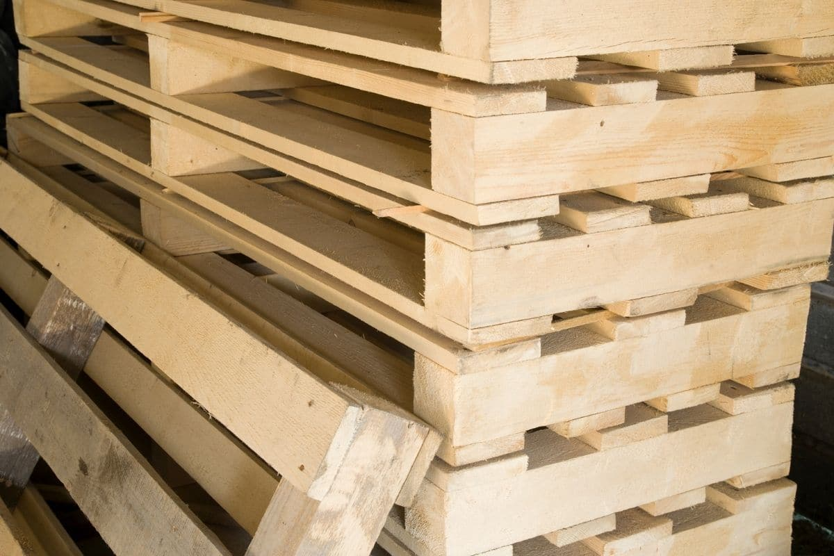 stock pile of pallets