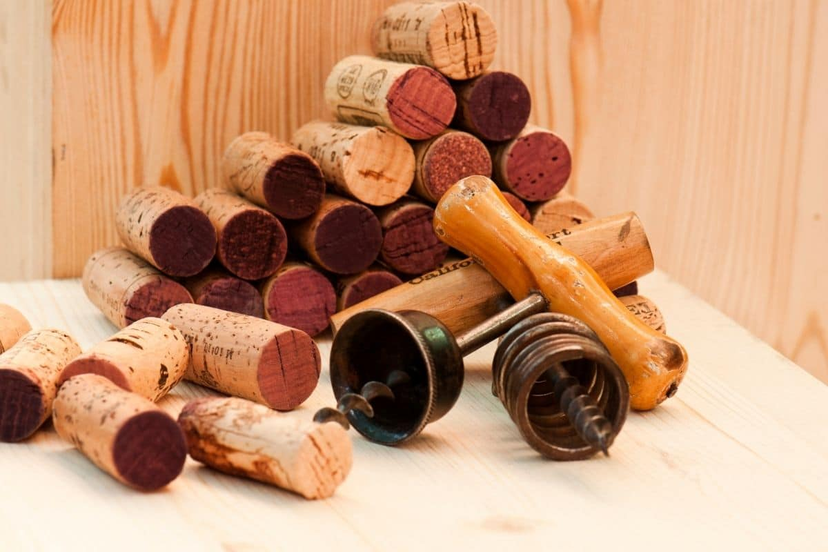 stock of old wine corks