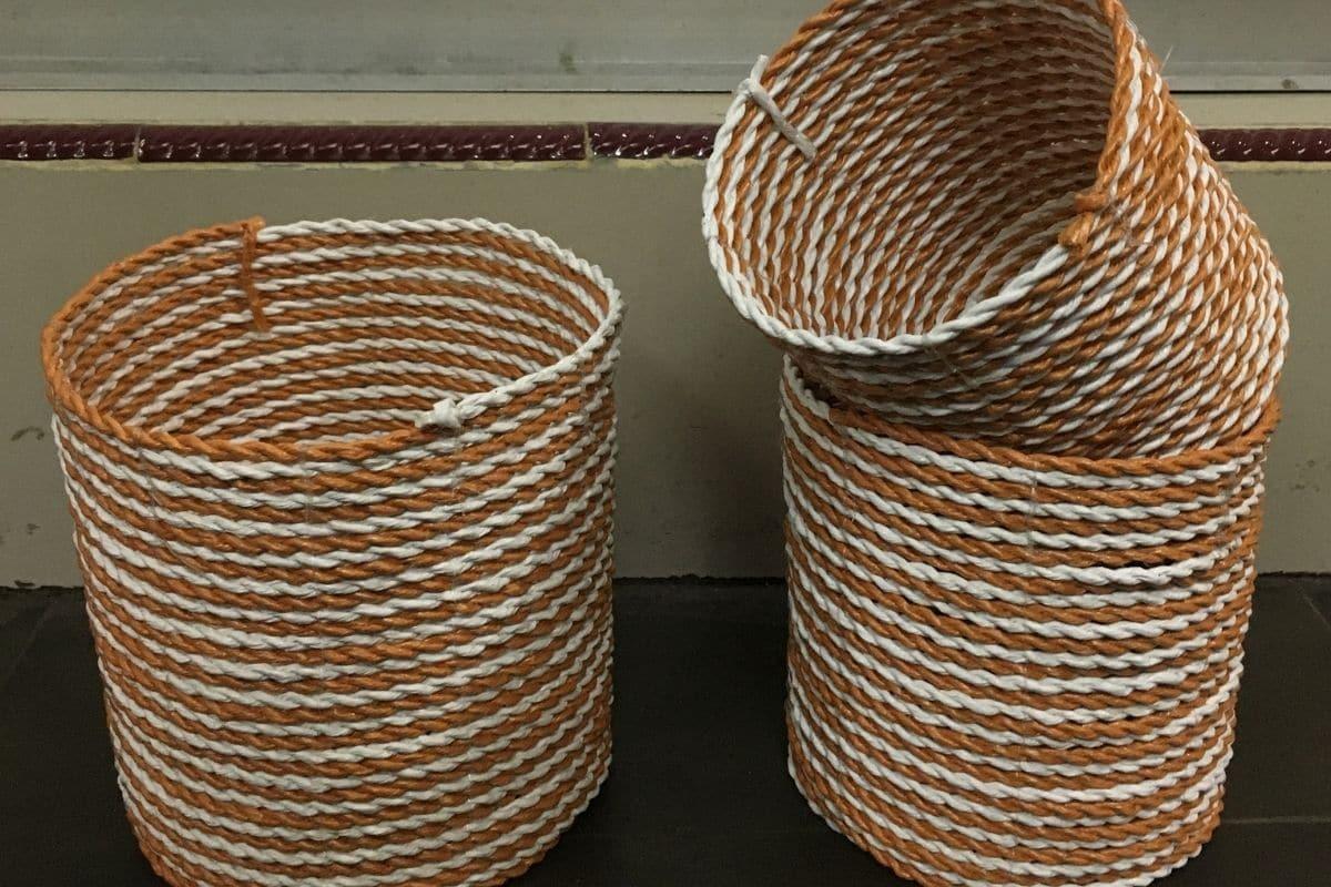 Weaved basket rope