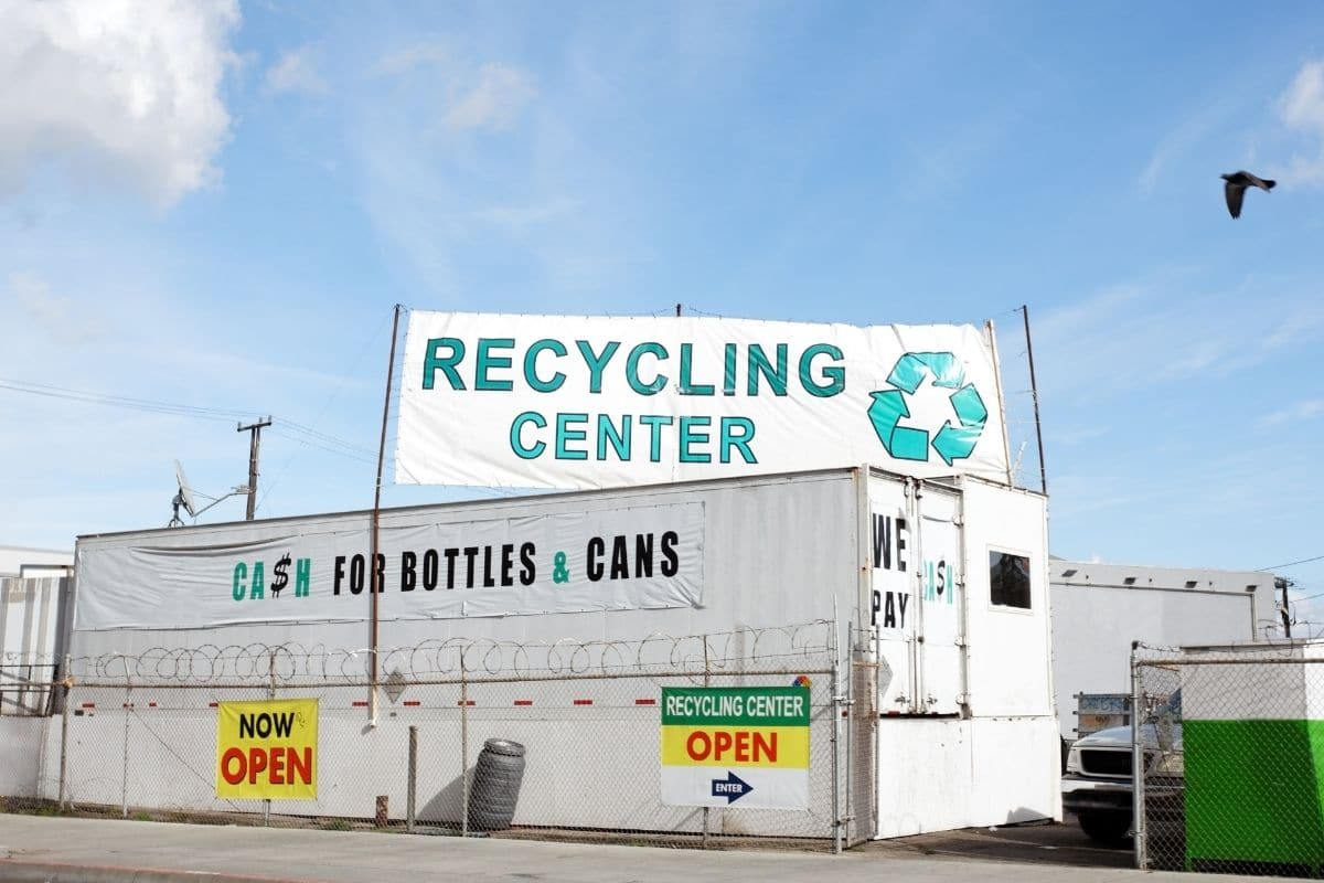 recycling center for dumping of recyclables
