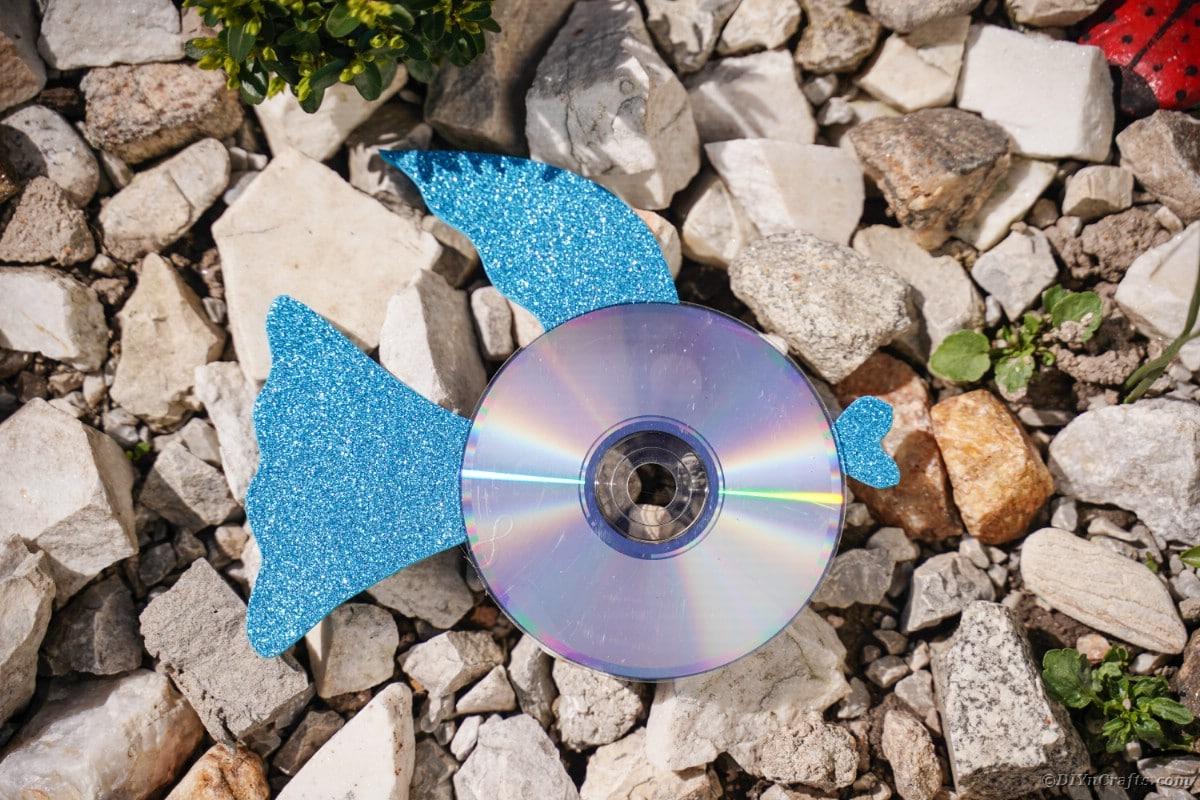 Blue fish on stone