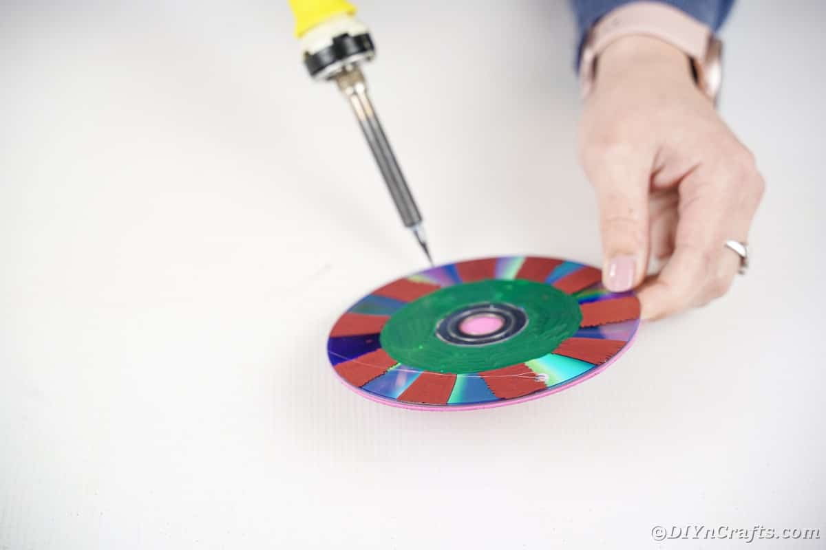 Soldering a hole into CD